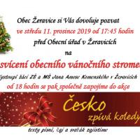 Rozsvícení vánočního stromečku a Česko zpívá koledy